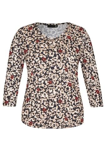 Thomas Rabe 3/4-Arm-Shirt, mit getupftem Muster und floralen Elementen kaufen