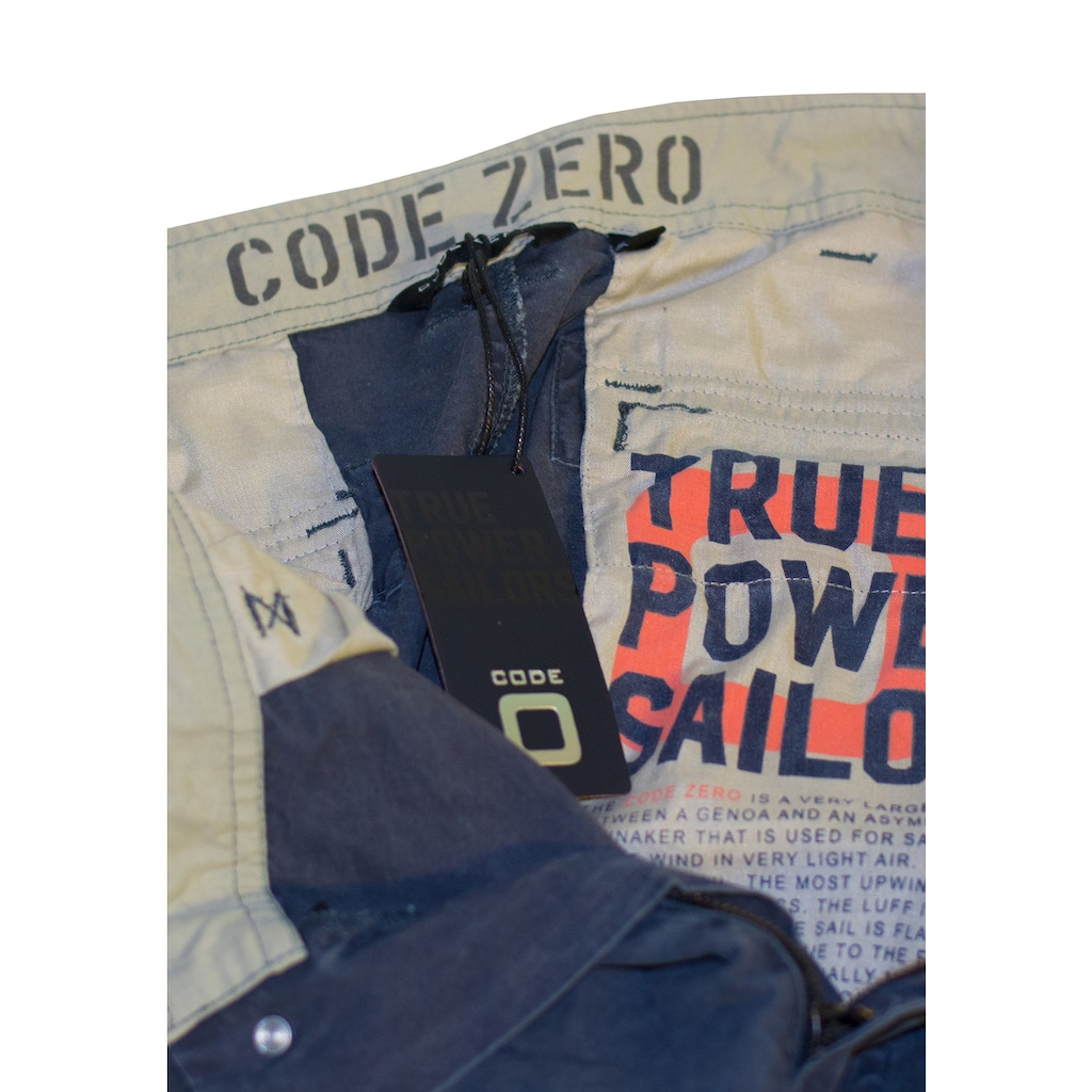 CODE-ZERO Cargoshorts »Rudder Short«, Applikationen