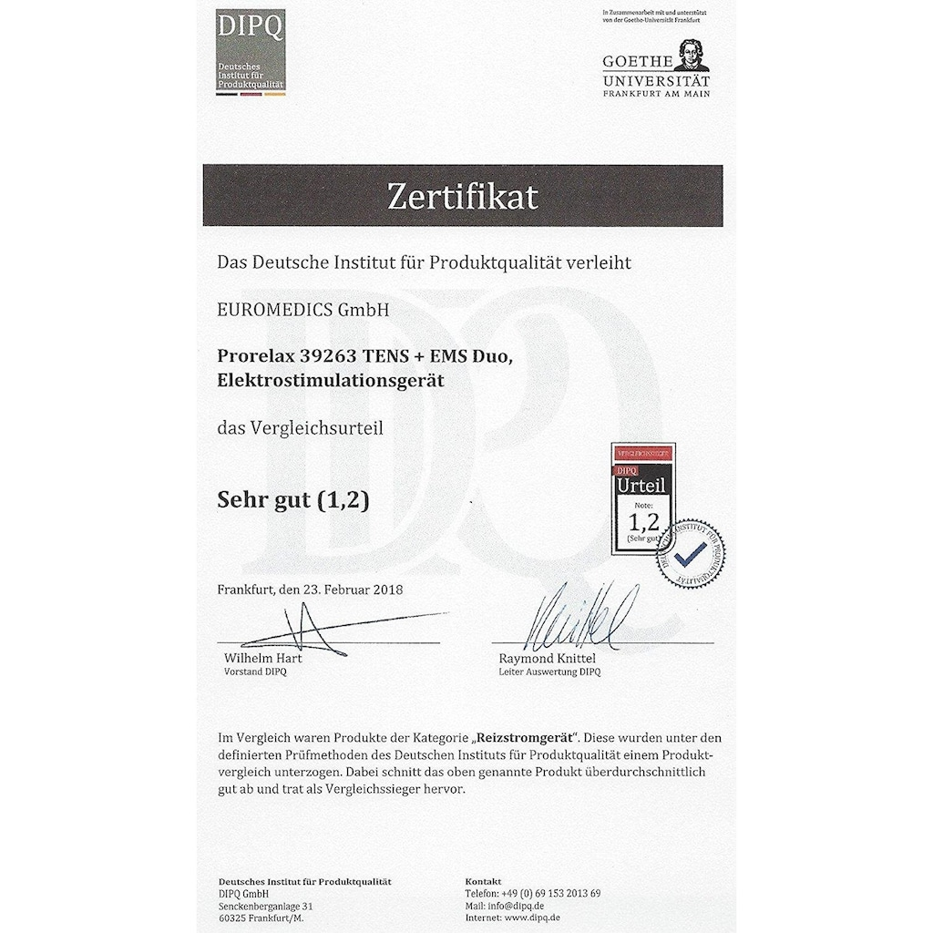prorelax TENS-EMS-Gerät »39263 TENS+EMS DUO«, 2 Therapien mit einem Gerät