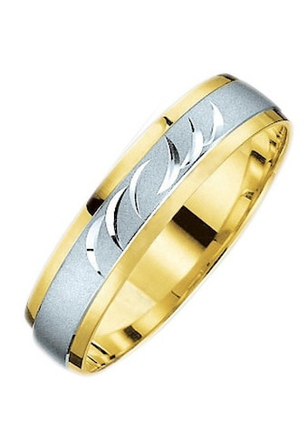 Firetti Trauring mit Gravur »glanz, sandmatt, Diamantschnitt, bicolor, 5,0 mm breit«,... kaufen