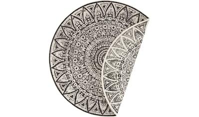 freundin Home Collection Teppich »Lilja«, rund, 5 mm Höhe, Wendeteppich, In- und... kaufen