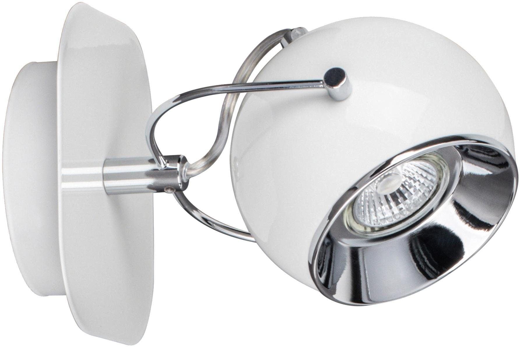 SPOT Light Wandleuchte BALL, GU10, Warmweiß, LED Leuchtmittel Inklusive, wechselbar, schwenkbarer und flexibler Retrostrahler