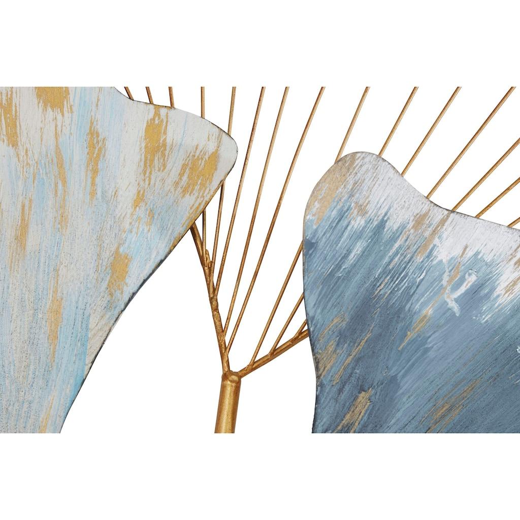 HOFMANN LIVING AND MORE Wanddekoobjekt »Gingko«, Wanddeko, aus Metall