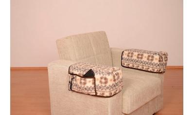 DELAVITA Armlehnenschoner »Malmö«, Armlehnenhusse mit Taschen aus Schurwolle (2 Stück) kaufen
