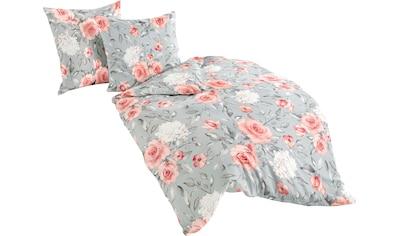 BIERBAUM Bettwäsche »Roses«, 100 % Baumwolle, Mako-Satin Qualität kaufen
