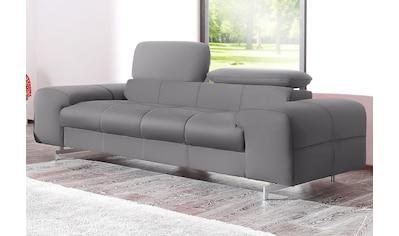 COTTA Polstergarnitur, Set: bestehend aus 2-Sitzer und Hocker, verchromten Metallfüße kaufen