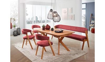 SCHÖSSWENDER Esstisch »Birds«, modernes Design, Gestell aus Massivholz, mit... kaufen