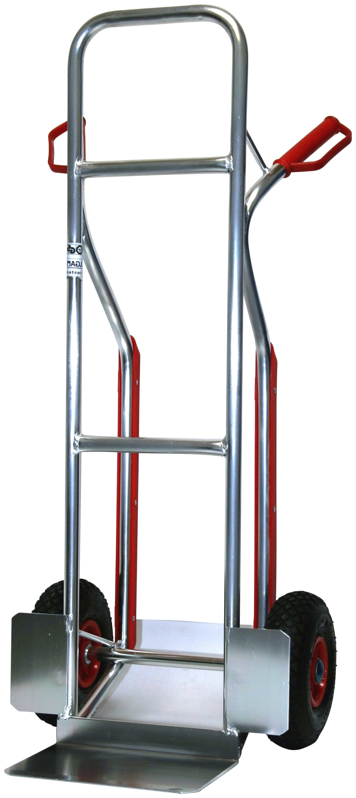 SZ METALL Sackkarre, mit Gleitkufen silberfarben Sackkarren Transport Werkzeug Maschinen Sackkarre