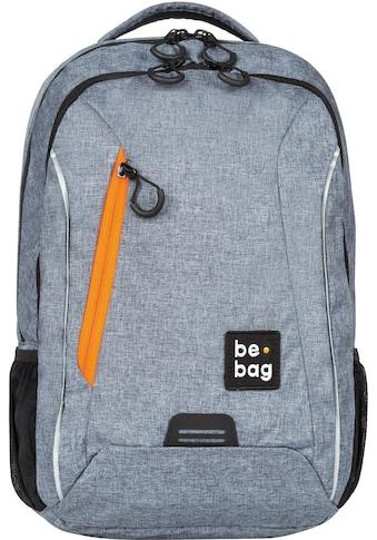 Pelikan Schulrucksack »be.bag be.urban, grey melange«, Reflektionsnähte-reflektierende Streifen auf den Schultergurten kaufen