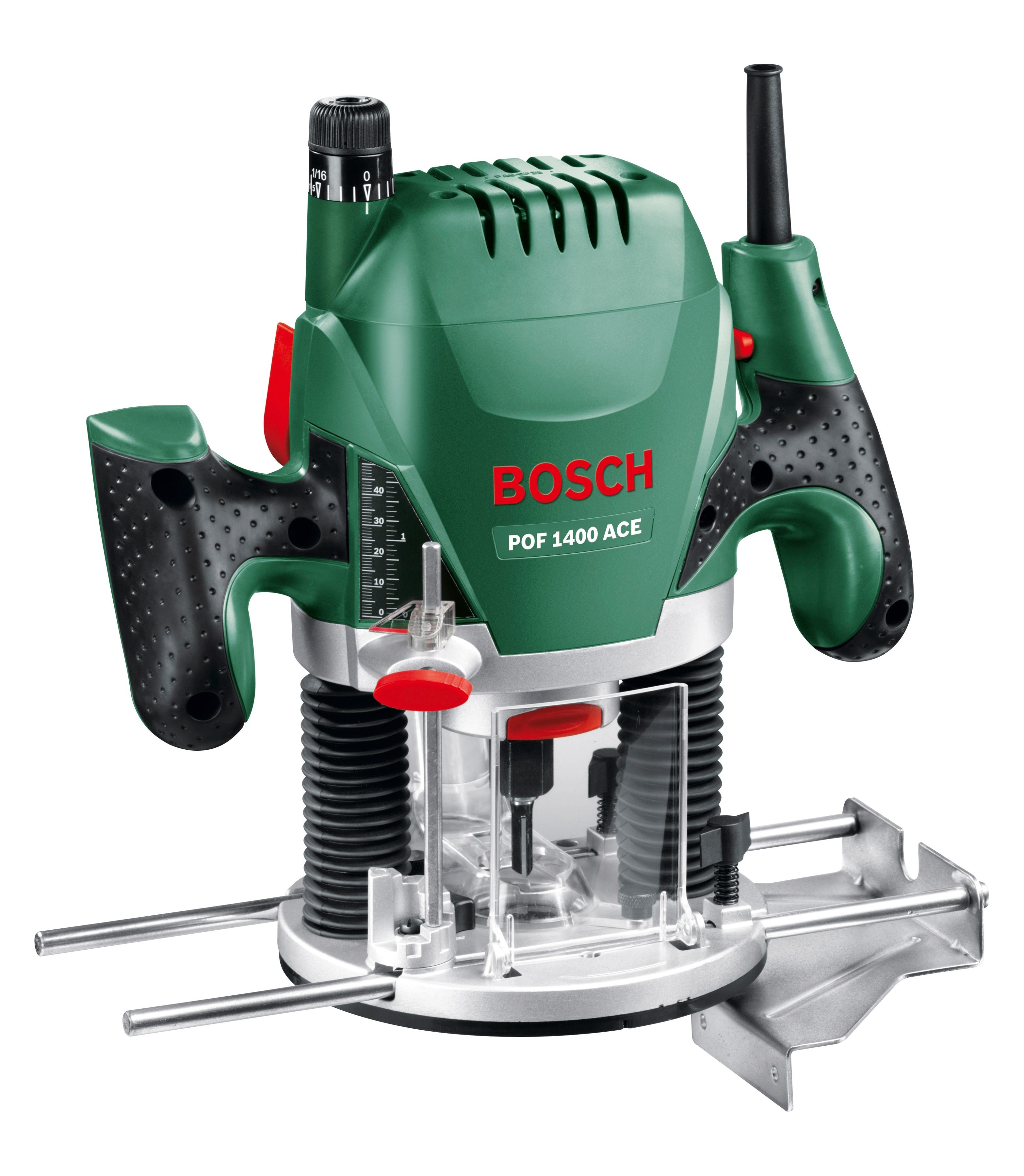 BOSCH Oberfräse POF 1400 ACE grün Fräsen Werkzeug Maschinen