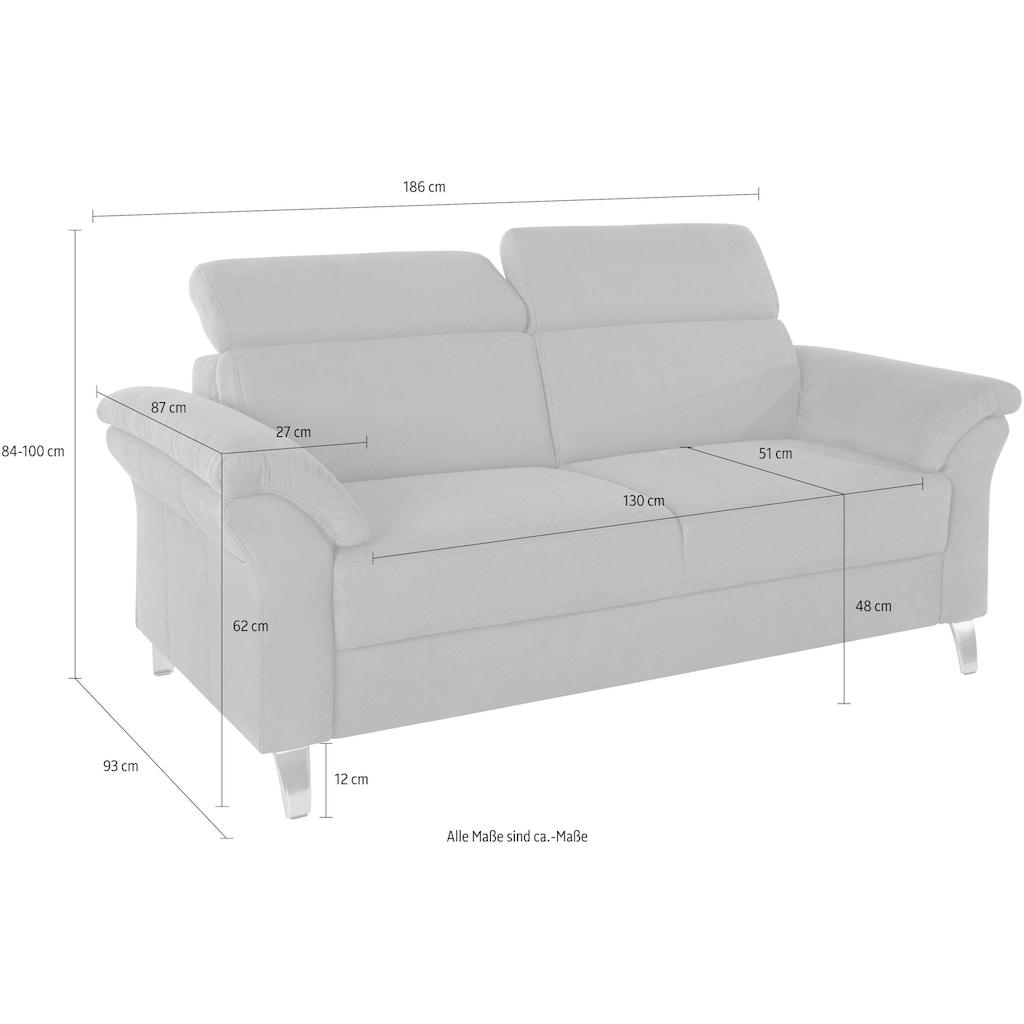 sit&more 2,5-Sitzer, inklusive Federkern und Kopfteilverstellung