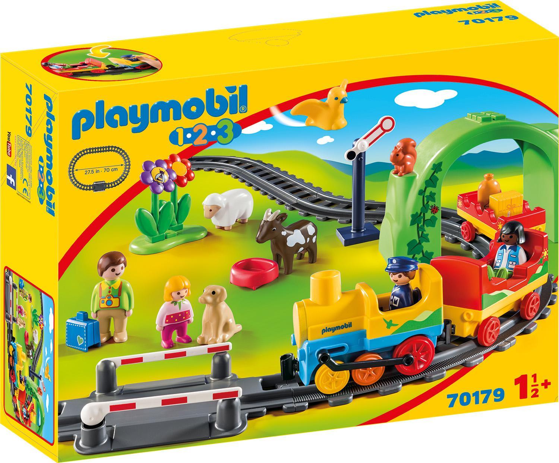 Playmobil Konstruktions-Spielset Meine erste Eisenbahn (70179), 1-2-3, Made in Europe bunt Kinder Bausteine Bausätze Bauen Konstruieren