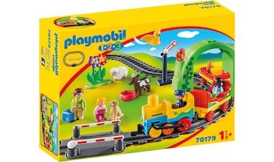 Playmobil® Konstruktions-Spielset »Meine erste Eisenbahn (70179), Playmobil 1-2-3«, Made in Europe kaufen