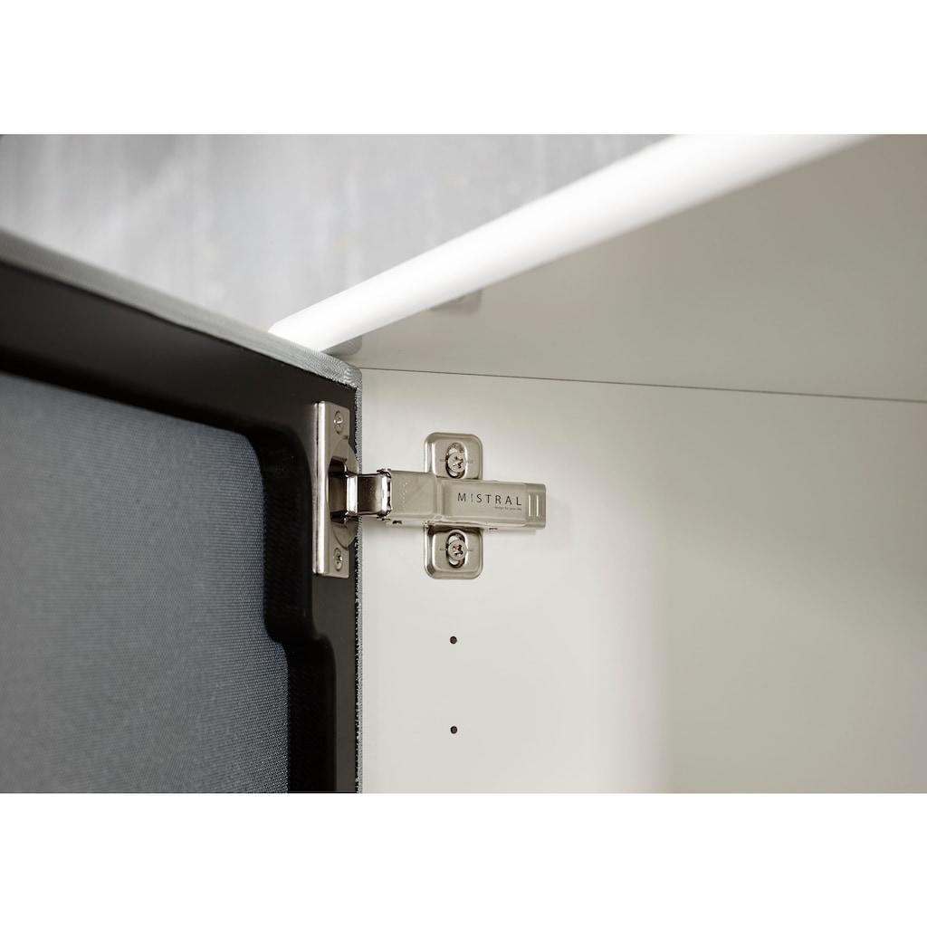 hammel Media-Board »MISTRAL«, Korpus mit Holzstruktur, Schubladen mit glatte Oberfläche, Türen mit Akustikstoff, Danish Design