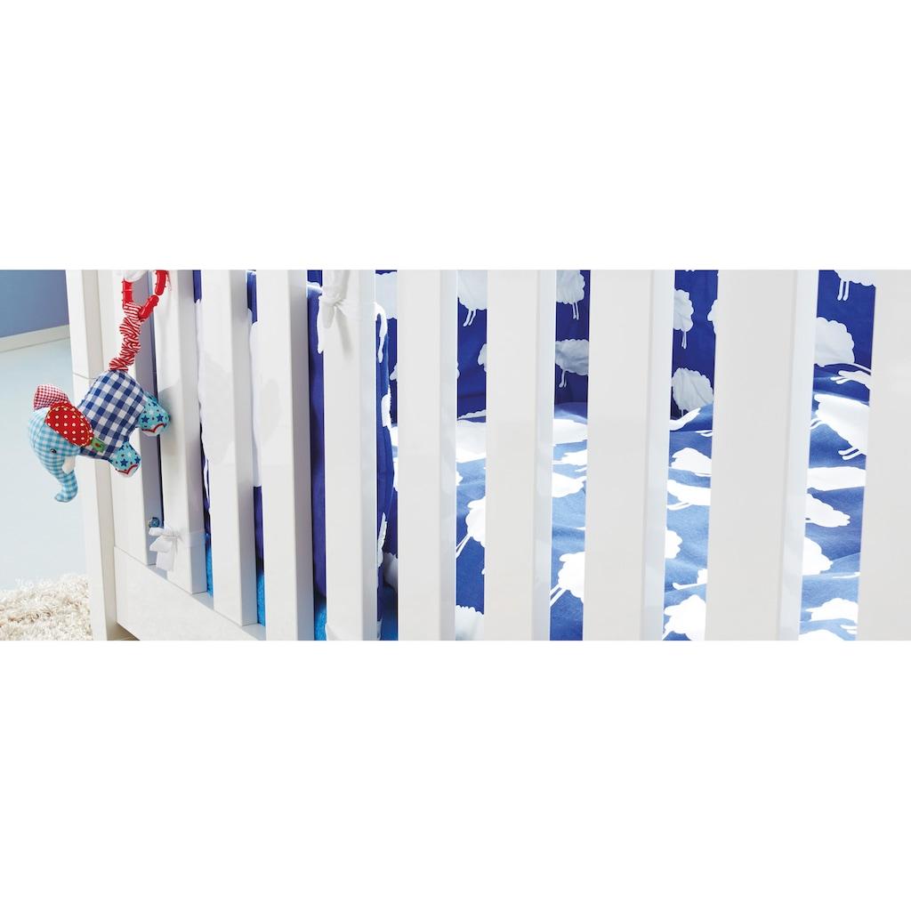 Pinolino® Babyzimmer-Komplettset, (Set, 3 St.), breit groß; bestehend aus Kinderbett, Wickelkommode und 3-trg. Schrank