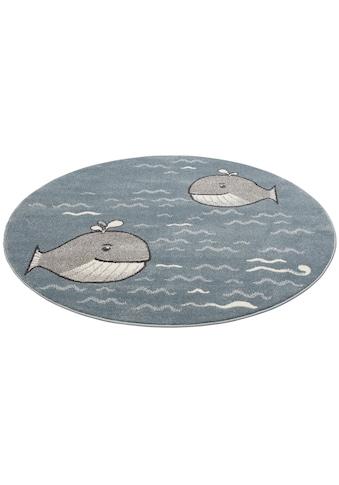 Kinderteppich, »Whale«, Lüttenhütt, rund, Höhe 14 mm, maschinell gewebt kaufen