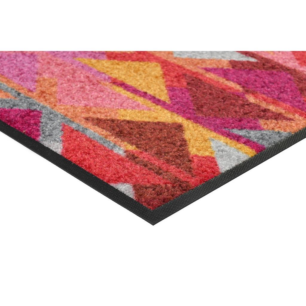 wash+dry by Kleen-Tex Fußmatte »Karim«, rechteckig, 7 mm Höhe, Schmutzfangmatte, In- und Outdoor geeignet, waschbar