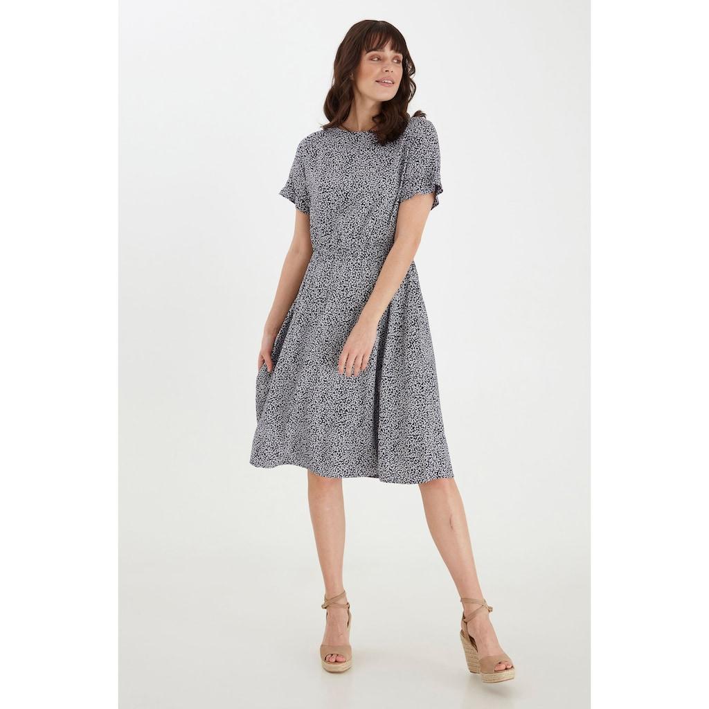 fransa Jerseykleid »Fransa Damen Maxikleid«, Langes Sommerkleid mit Allover Print
