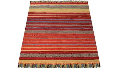 Teppich, »Kilim 213«, Paco Home, rechteckig, Höhe 13 mm, handgewebt kaufen
