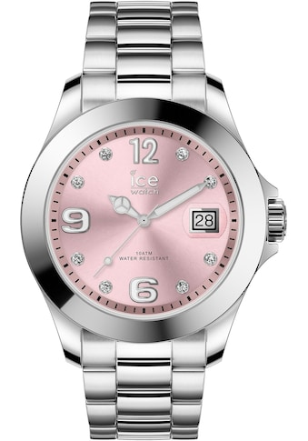 ice - watch Quarzuhr »ICE steel classic  -  Light pink silver  -  Stones  -  Medium  -  3H, 16776« kaufen