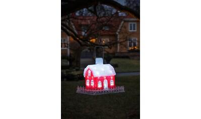 KONSTSMIDE LED-Dekofigur, LED Acryl Vogelhaus, 8h Timer, mit Metallständer kaufen