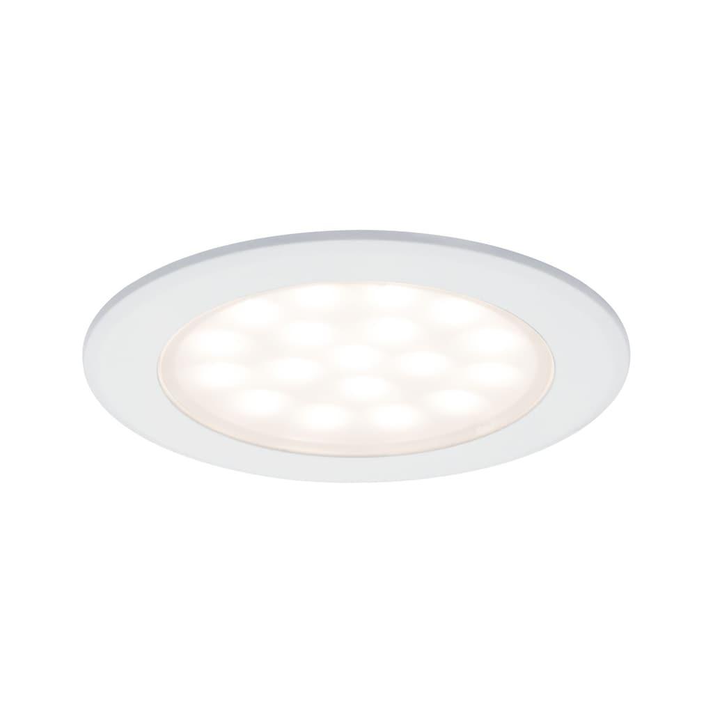 Paulmann LED Einbaustrahler »Möbeleinbauleuchte rund 2er-Set 2x2,5W Weiß matt«, Warmweiß