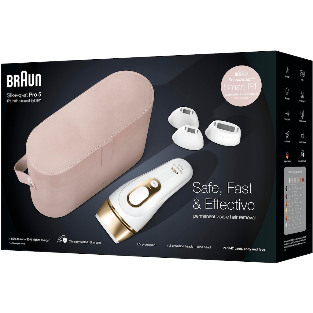 Braun IPL-Haarentferner »Silk-expert Pro 5 PL5347«, 400.000 Lichtimpulse, für Damen und Herren