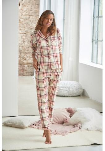 H.I.S Pyjama, mit aus Flanell Allover-Karomuster kaufen
