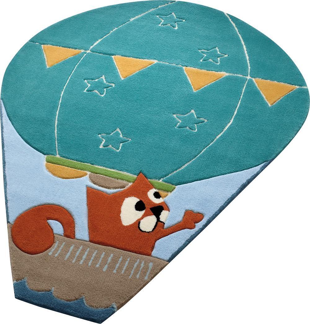 Esprit Kinderteppich Balloon, oval, 10 mm Höhe blau Kinder Kinderteppiche mit Motiv Teppiche