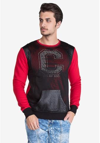Cipo & Baxx Sweatshirt, in cooler Lochmuster-Optik kaufen