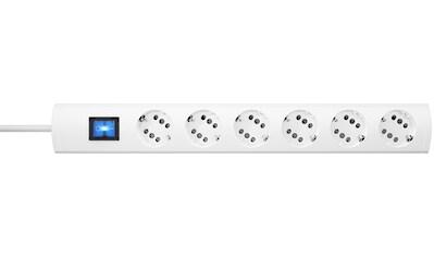 Kopp Steckdosenleiste »DUOv.6f.m.Sch.weiß5m«, 6-fach, (Ein- / Ausschalter-Schalterbeleuchtung Kindersicherung-Schutzkontaktstecker Kabellänge 5 m) kaufen