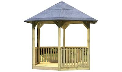 Karibu Pavillon »Madrid«, (Set), BxTxH: 349x302x291 cm, mit Brüstung kaufen
