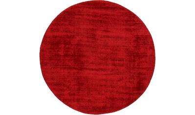 carpetfine Teppich »Ava«, rund, 13 mm Höhe, Viskoseteppich, Seidenoptik, Wohnzimmer kaufen