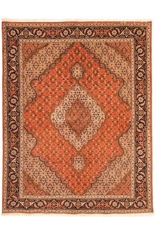 morgenland Wollteppich »Täbriz Teppich handgeknüpft rost«, rechteckig, 8 mm Höhe kaufen