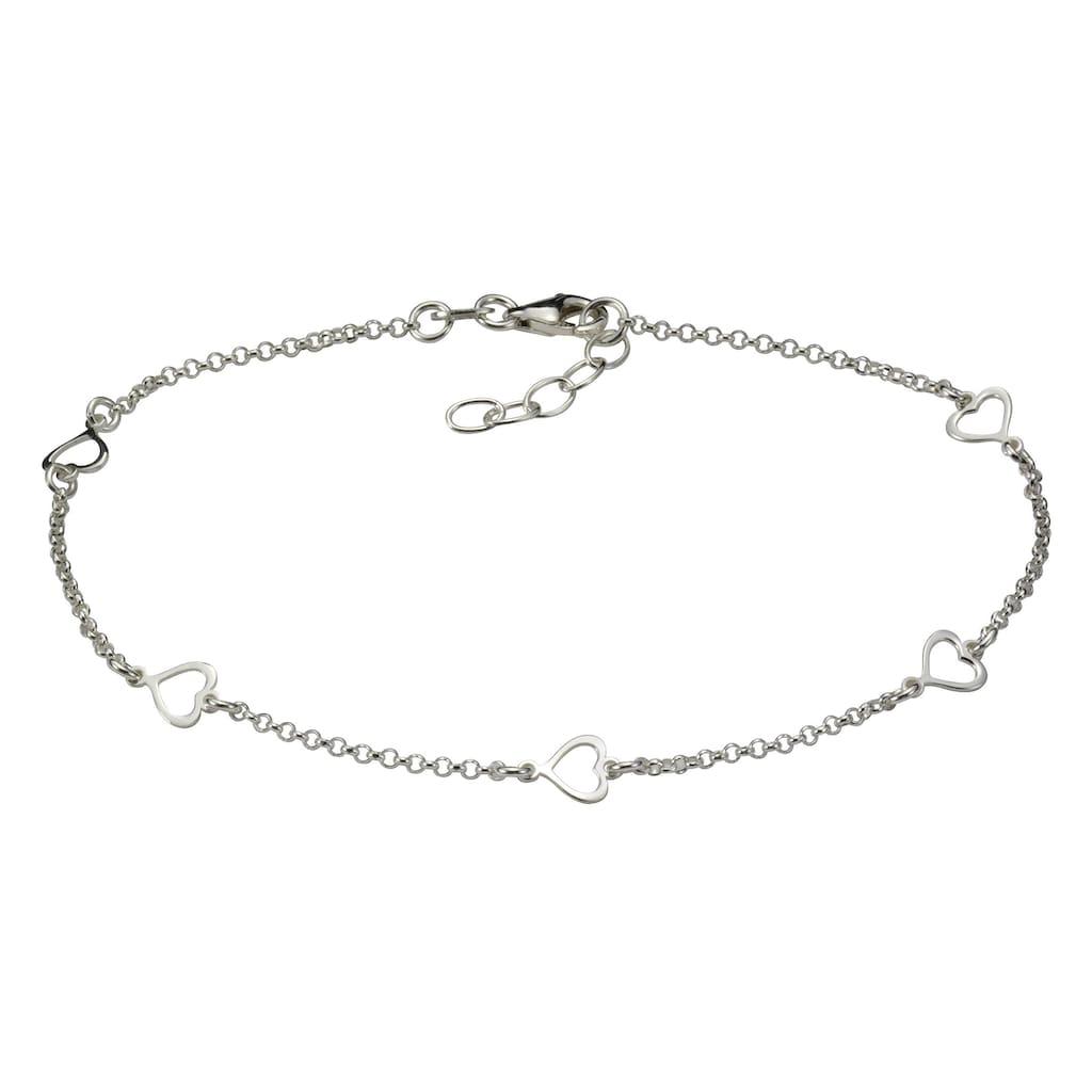 Vivance Fußkette »925/- Sterling Silber Herzen«