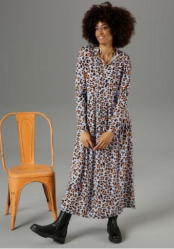 Aniston CASUAL Maxikleid, mit Animal-Print - NEUE KOLLEKTION kaufen