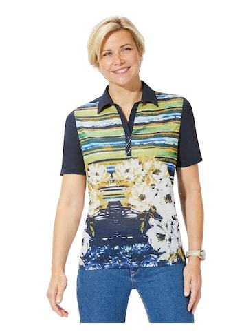 Classic Basics Shirt mit Druck - Mix aus Blüten und Streifen kaufen