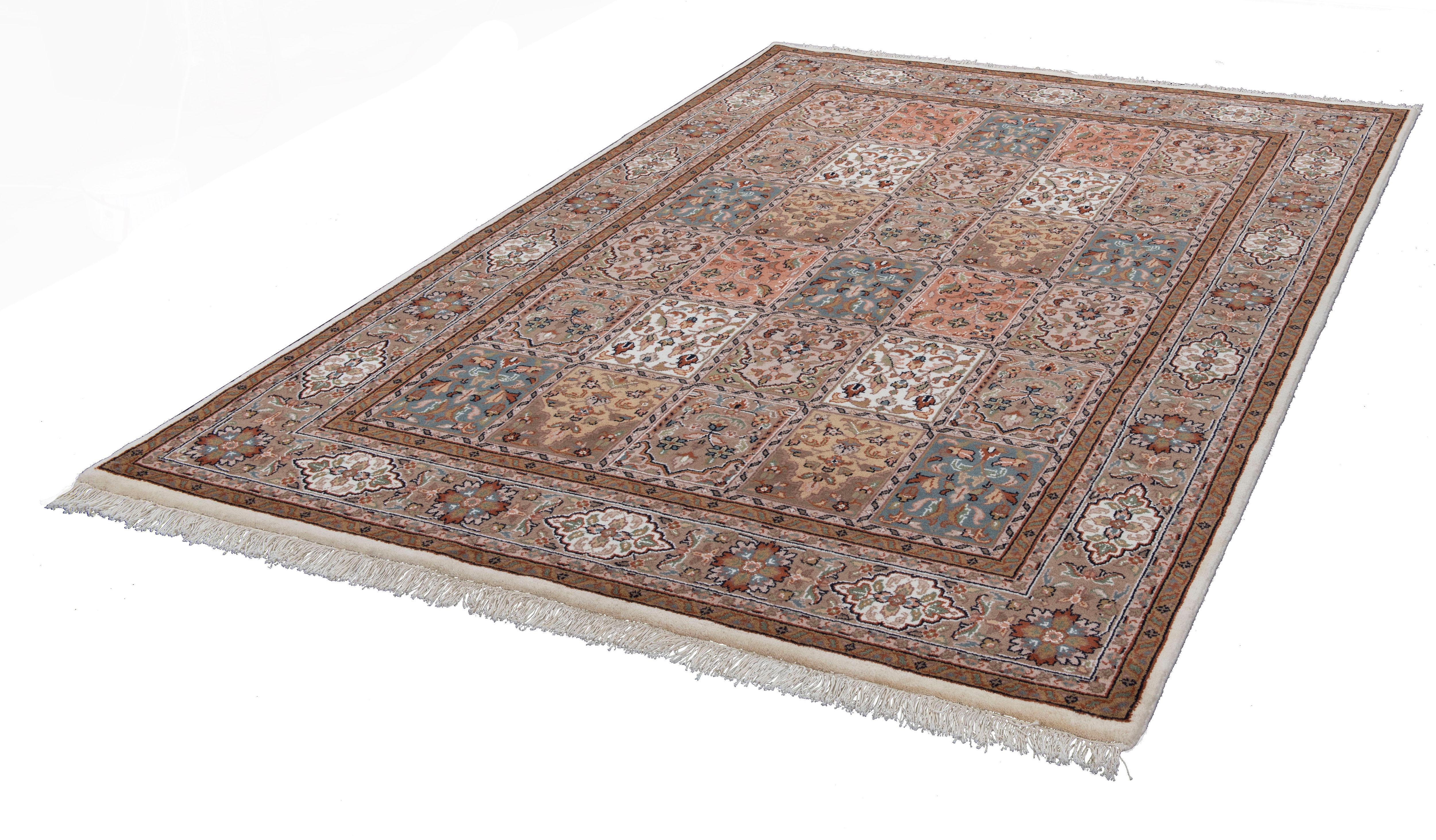Orientteppich Benares Bachtiari THEKO rechteckig Höhe 12 mm manuell geknüpft