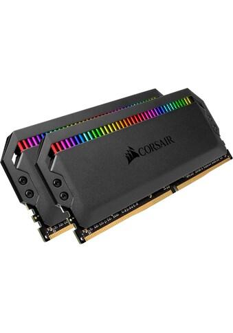 Corsair »DOMINATOR RGB 32 GB (2 x 16 GB) DDR4 DRAM 3.000 MHz C15« PC - Arbeitsspeicher kaufen
