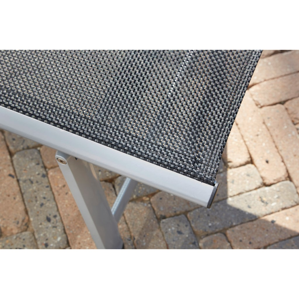 Greemotion Gartenliege »Monza Comfort«, Alu/Textil, schwarz
