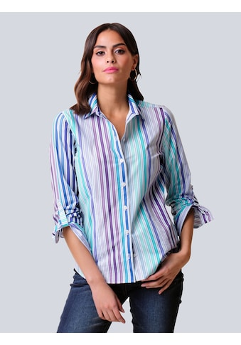 Alba Moda Hemdbluse, im farbenfrohem Streifendessin kaufen