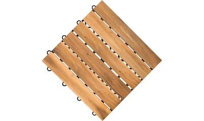 florco® Terrassenplatten, Klickfliesen Akazie kaufen