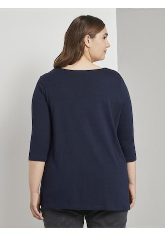 TOM TAILOR MY TRUE ME 3/4 - Arm - Shirt »Blusenshirt mit Druckknopfdetail« kaufen