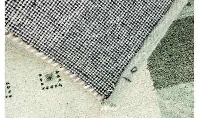 morgenland Wollteppich »Gabbeh Teppich handgeknüpft grau«, rechteckig, 18 mm Höhe,... kaufen