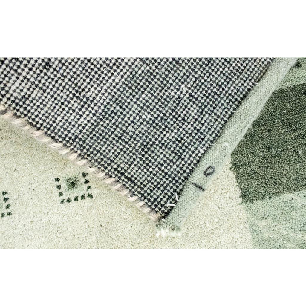 morgenland Wollteppich »Gabbeh Teppich handgeknüpft grau«, rechteckig, 18 mm Höhe, handgeknüpft