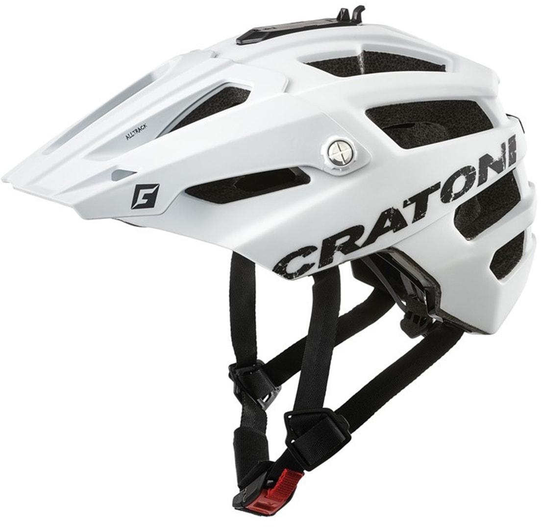 Cratoni Mountainbikehelm MTB-Fahrradhelm AllTrack, Reflektoren, dreifache Höhenverstellung weiß Rad-Ausrüstung Radsport Sportarten