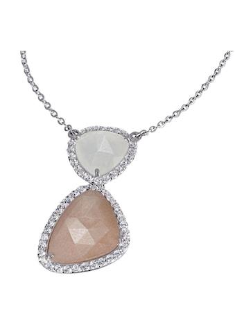 goldmaid Collier 925/ -  Silber 2 Mondsteine 55 weiße Zirkonia kaufen