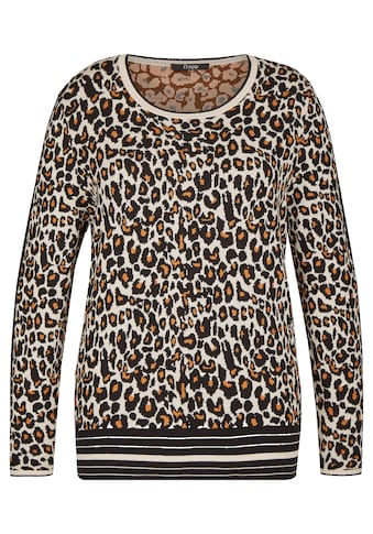FRAPP Angesagter Jacquard - Pullover mit Leoparden - Muster Plus Size kaufen