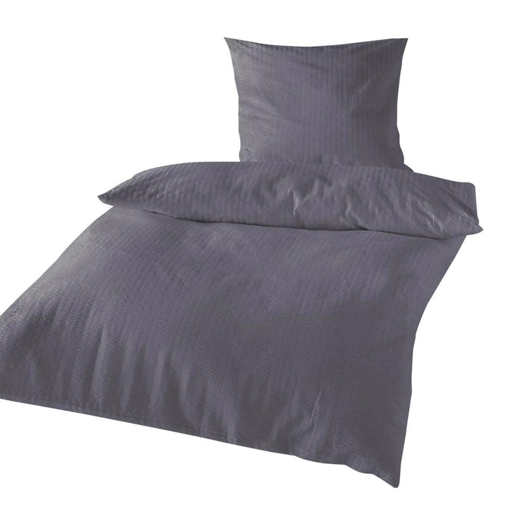 TRAUMSCHLAF Bettwäsche »Uni«, bügelfreie Seersucker Qualität