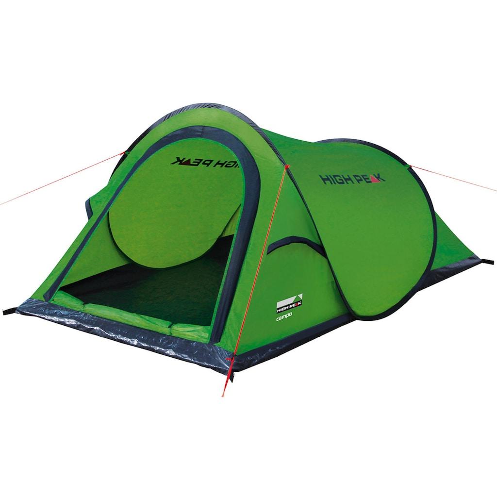 High Peak Wurfzelt »Campo«, 2 Personen, (Set, mit Transporttasche)